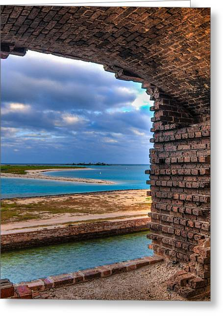 A View From Fort Jefferson - 2 Greeting Card by Andres Leon
