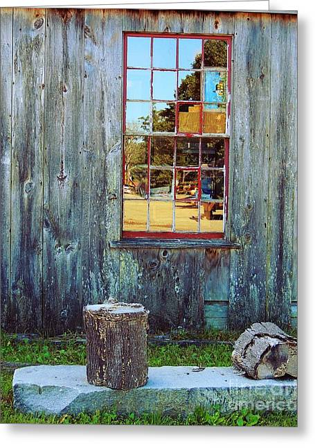 Concept Photographs Greeting Cards - A View From The Inside Greeting Card by Marcia Lee Jones