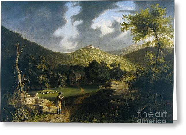 A View Of Fort Putnam Greeting Card by Thomas Cole