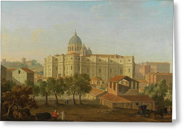 A View Of The Apse Of Saint Peter Greeting Card by MotionAge Designs