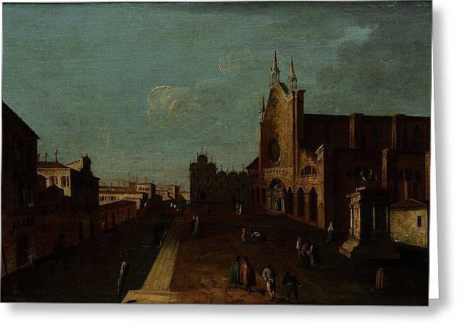 A View Of The Campo Di San Giovanni E Paolo Greeting Card by Canaletto
