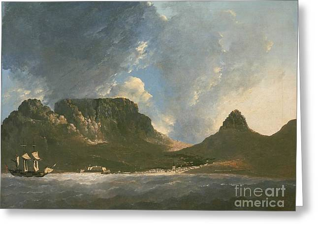 Take A View Greeting Cards - A view of the Cape of Good Hope Greeting Card by Celestial Images