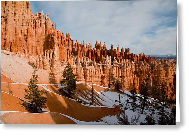 Trekking Greeting Cards - A View Of The Hoodoos And Other Eroded Greeting Card by Taylor S. Kennedy