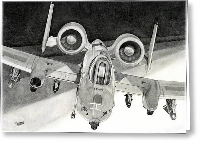 Military Airplanes Greeting Cards - A View To A Kill Greeting Card by Trenton Hill
