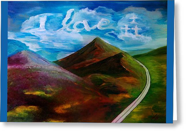 A Vision In The Clouds Greeting Card by Jennifer Page