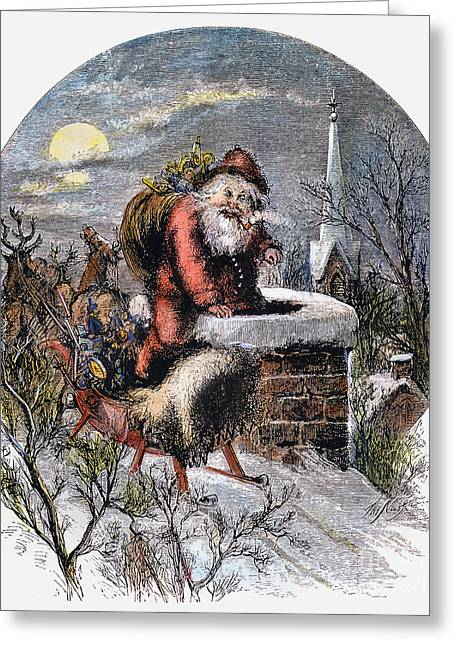 Recently Sold -  - Nast Greeting Cards - A Visit From St Nicholas Greeting Card by Granger
