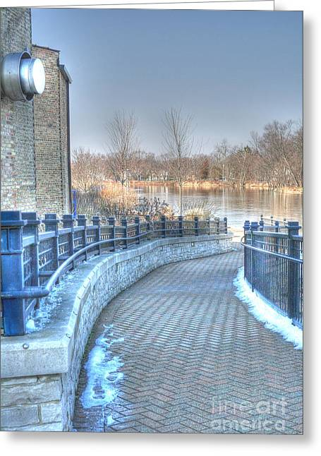 Riverwalk Greeting Cards - A walk along the Fox Greeting Card by David Bearden