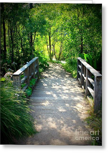 Carol Groenen Digital Art Greeting Cards - A Walk in the Park Greeting Card by Carol Groenen