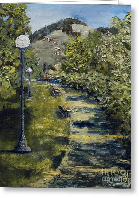 A Walk In The Park Greeting Card by Jodi Monahan