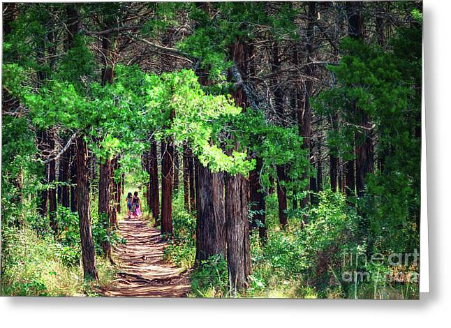 A Walk Into The Forest Greeting Card by Tamyra Ayles