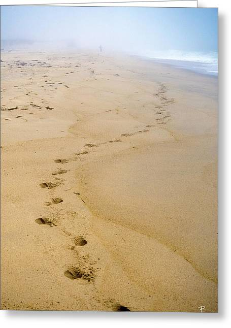 A Walk On The Beach Greeting Card by Tom Romeo