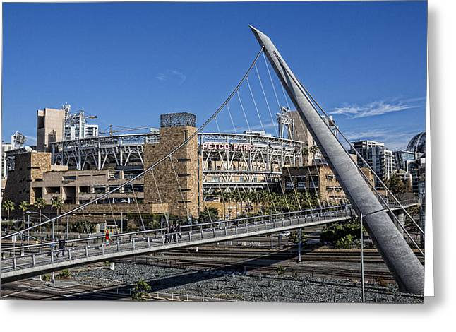 San Diego Padres Stadium Greeting Cards - A Walk to the Park Greeting Card by Stephen Stookey
