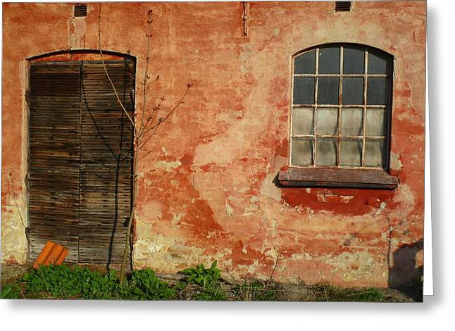 Sheds Greeting Cards - A Wall of Charm Greeting Card by Rosita Larsson