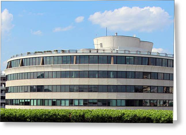1960 Greeting Cards - A Watergate Panorama Greeting Card by Cora Wandel