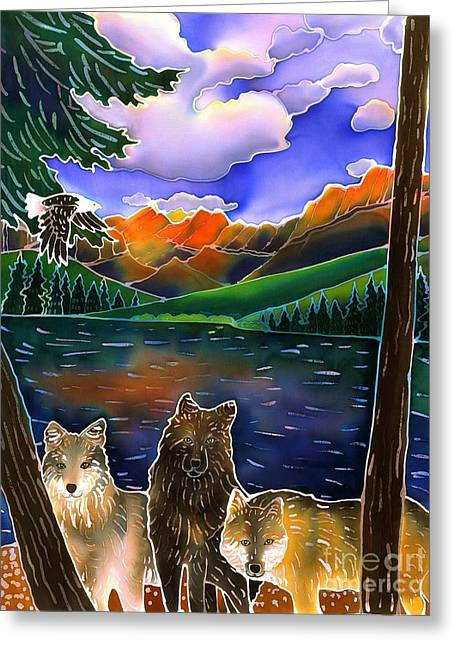 Yellowstone Art Greeting Cards - A Wild Place Greeting Card by Harriet Peck Taylor