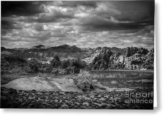 Valley Of Fire Nevada Greeting Cards - A Wild Story Of Earth And Sky Greeting Card by Jennifer Magallon