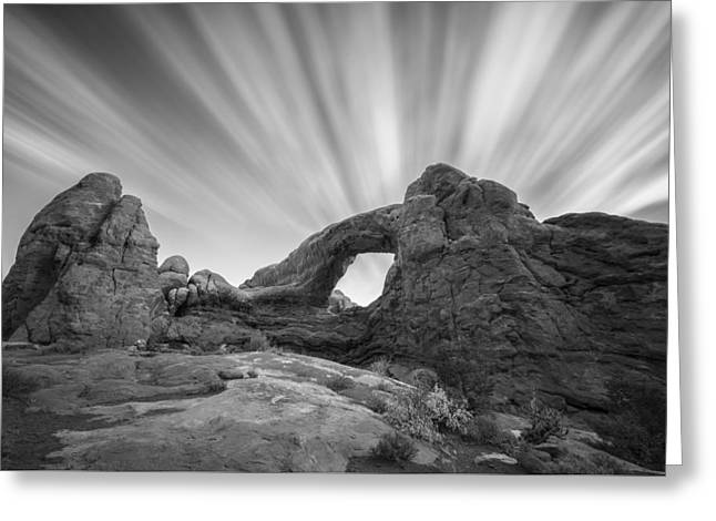 Black And White Mountain Prints Greeting Cards - A Window to the Sky Greeting Card by Jon Glaser