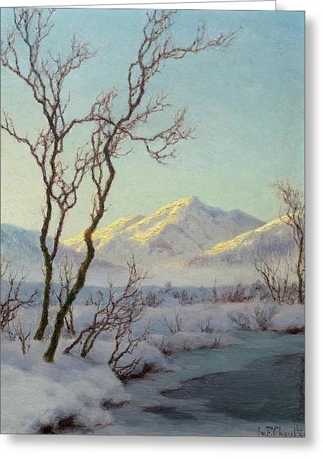 A Winter Morning In The Engadin Greeting Card by MotionAge Designs