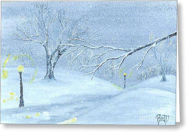 a winter walk... Greeting Card by Robert Meszaros