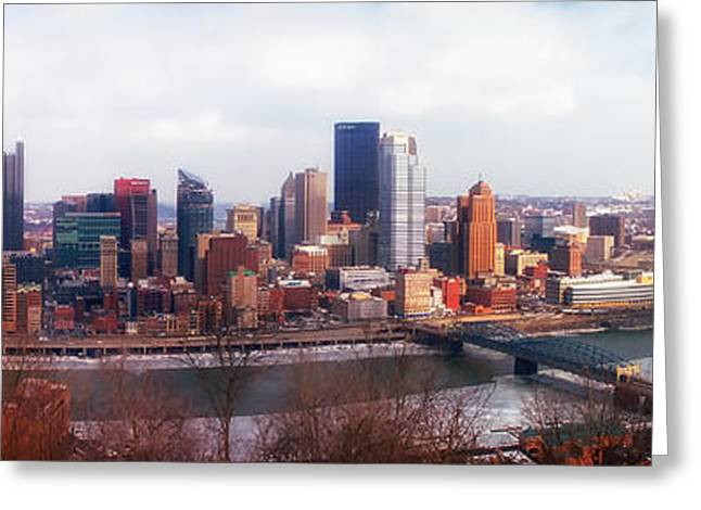 Wintry Greeting Cards - A Wintry Day in Pittsburgh Greeting Card by Cbaile19