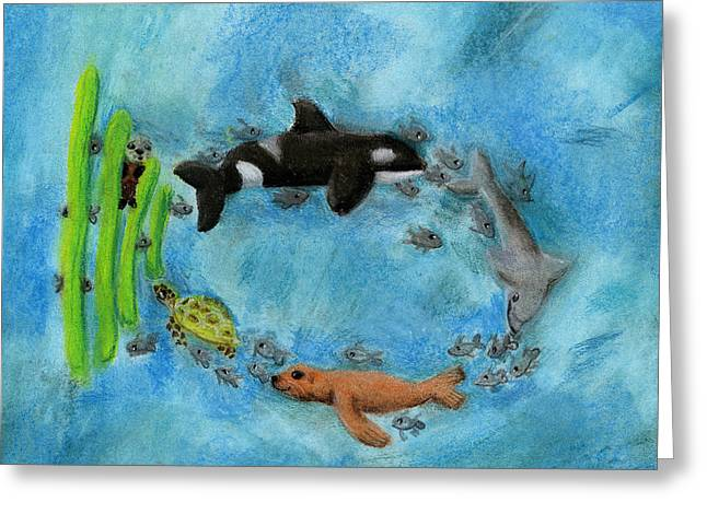 A Wish For A Fish By Estella Sky Keyoung 3rd Grade Greeting Card by California Coastal Commission
