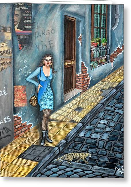 A Woman In Buenos Aires II Greeting Card by Graciela Bello