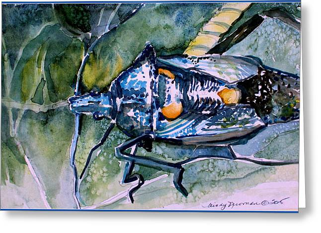 Organic Drawings Greeting Cards - A Wondering Bug Greeting Card by Mindy Newman