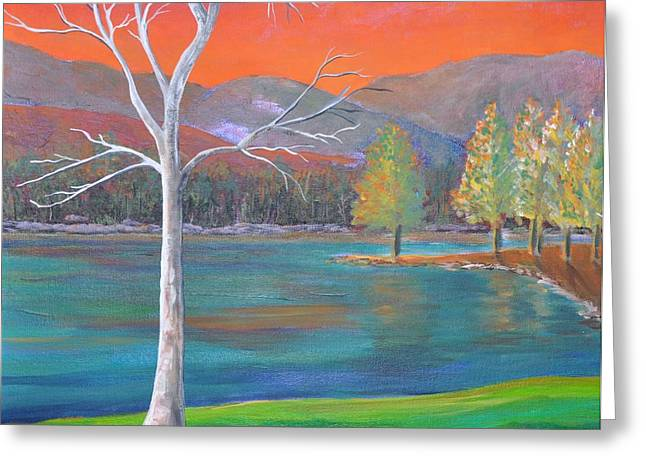 Colorful Trees Greeting Cards - A World of Color Greeting Card by Reb Frost