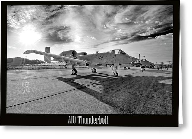 A10 Thunderbolt Greeting Card by Greg Fortier