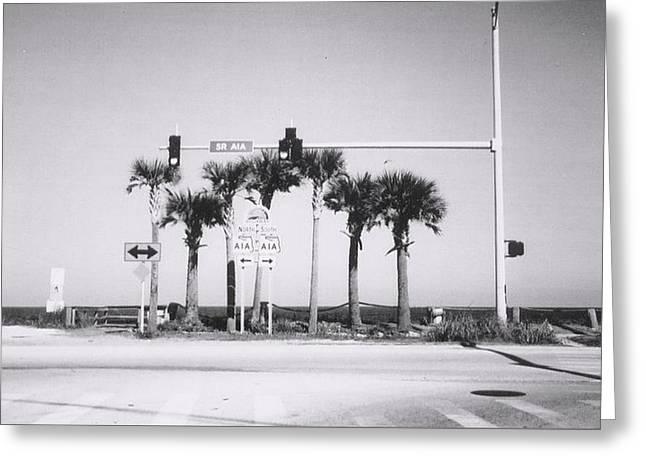 Crosswalk Greeting Cards - A1A at Flagler Beach in Florida Greeting Card by Sarah  Kish