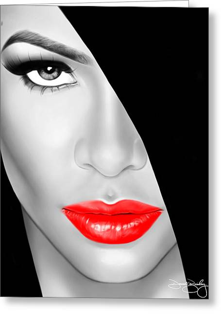 Photorealism Greeting Cards - Aaliyah Greeting Card by Davonte Bailey