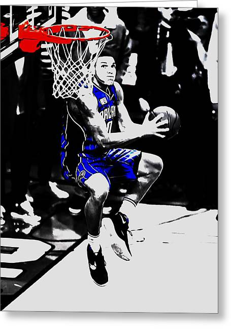 Aaron Gordon Greeting Card by Brian Reaves