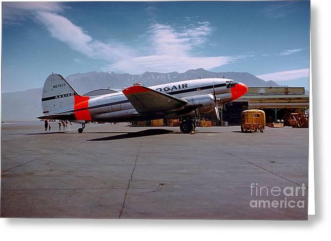Aaxico Ch-28 Logair Curtiss C-46 Commando N67977,  Greeting Card by Wernher Krutein