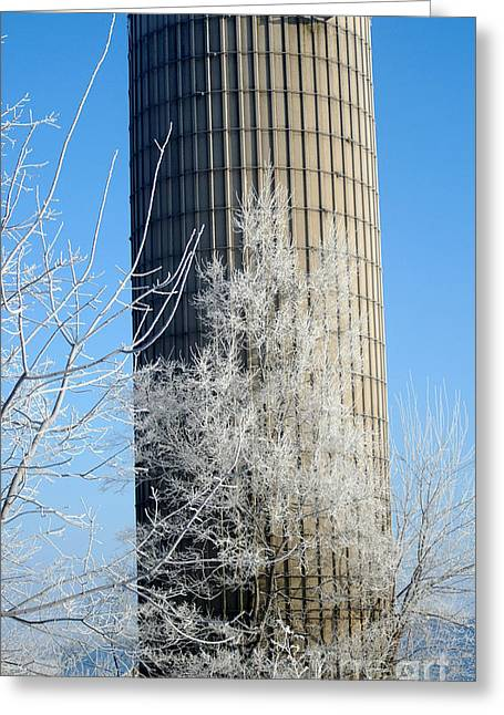 Abandonded Greeting Cards - Abandonded Silo Greeting Card by David Bearden