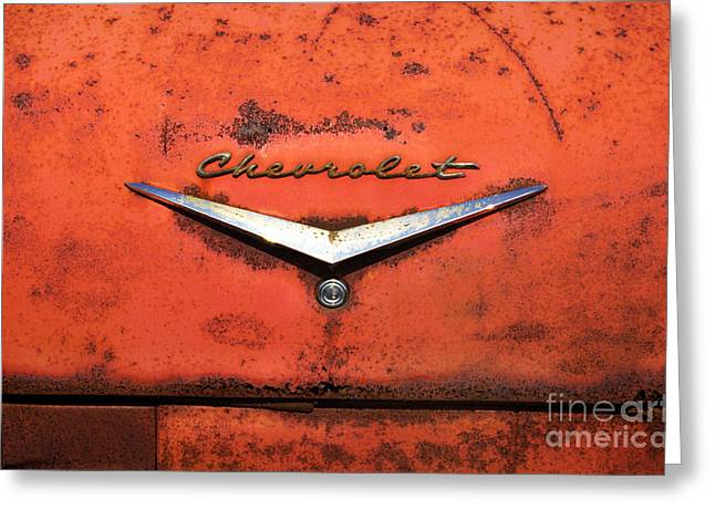 Abandoned 1958 Chevy Greeting Card by Arni Katz