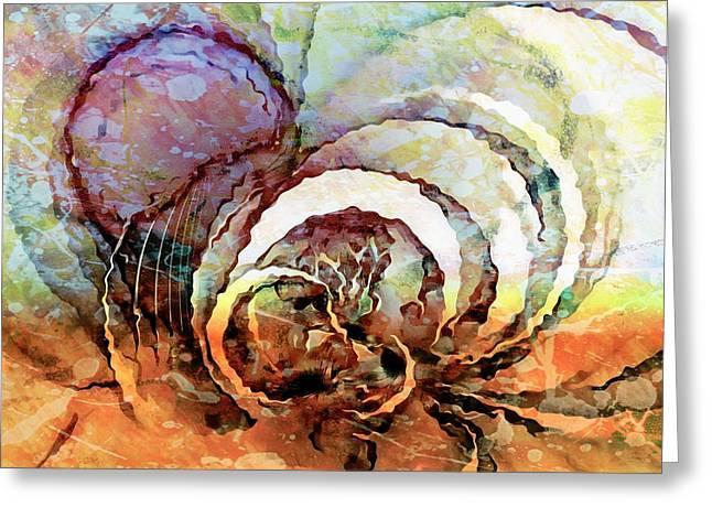 Fractals Fractal Digital Art Greeting Cards - Abandoned Greeting Card by Amanda Moore