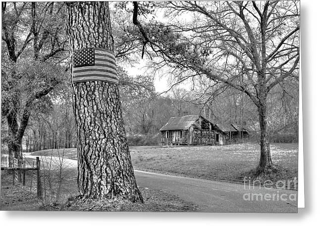Old Country Roads Greeting Cards - Abandoned America Greeting Card by Reid Callaway