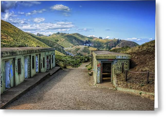 Marin County Greeting Cards - Abandoned Battery Spencer at Fort Baker - Marin Headlands California Greeting Card by Jennifer Rondinelli Reilly