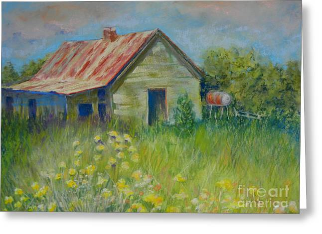 Shack Pastels Greeting Cards - Abandoned Beauty Greeting Card by Deb Arndt
