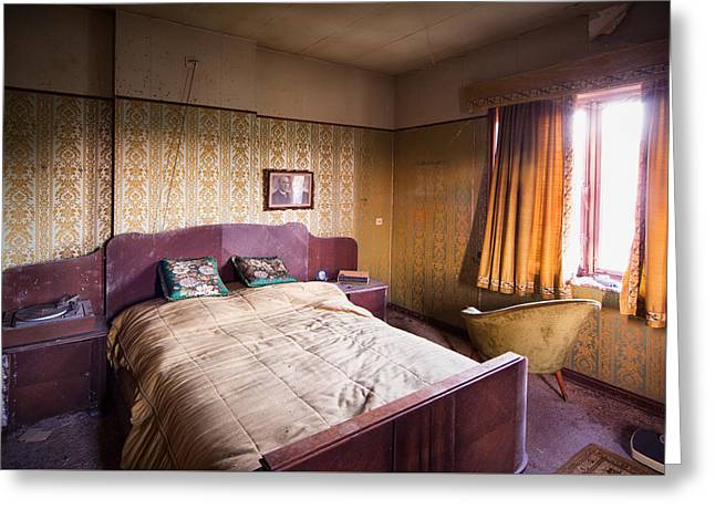 Old Home Place Greeting Cards - Abandoned Bedroom - Urban Exploration Greeting Card by Dirk Ercken