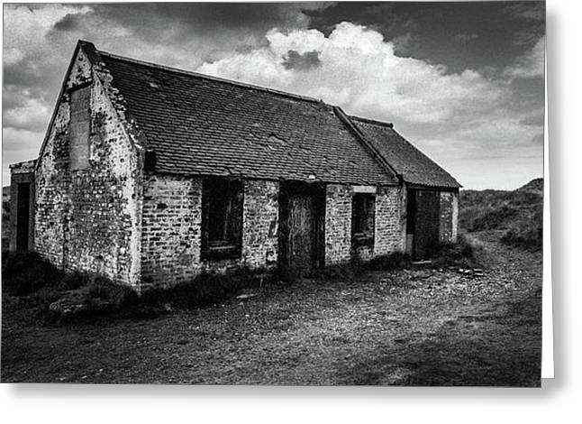 Abandoned Bothy Greeting Card by Dave Bowman
