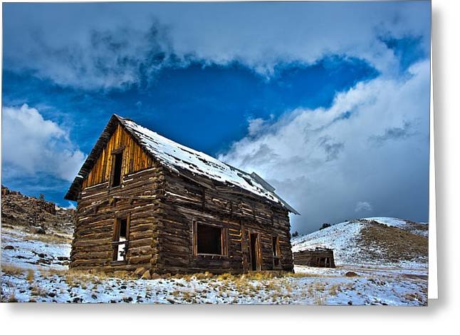 Old Cabins Greeting Cards - Abandoned Building Day Greeting Card by Noah Bryant