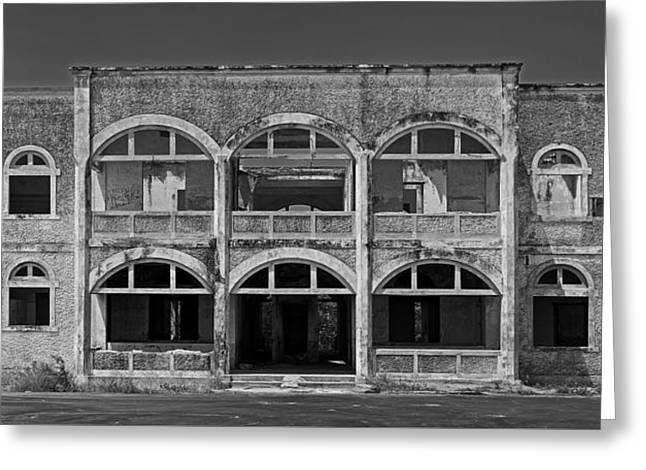 White Photographs Greeting Cards - Abandoned Building In Altagracia Venezuela Greeting Card by The Photographer