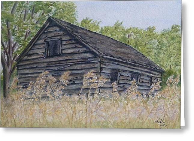 Shack Greeting Cards - Abandoned Cabin Greeting Card by Kelly Mills