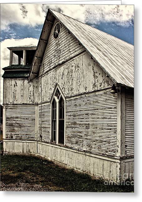 Nature Center Greeting Cards - Abandoned Church Greeting Card by Tom Gari Gallery-Three-Photography
