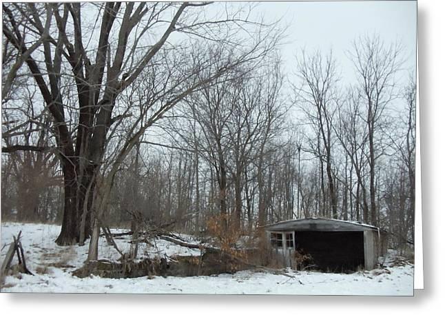 David Junod Greeting Cards - Abandoned Farm Greeting Card by David Junod