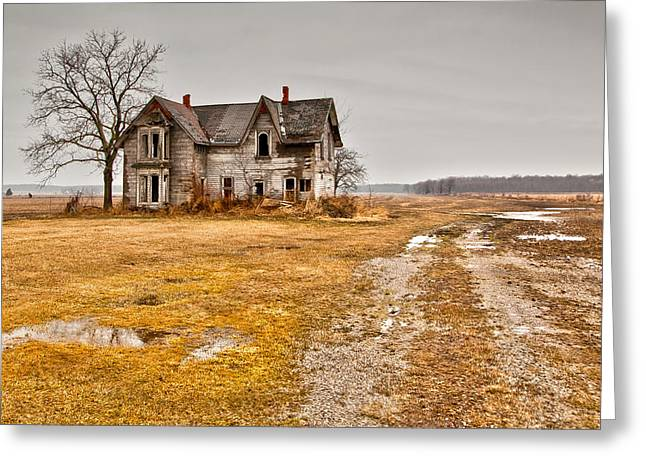 Wet Greeting Cards - Abandoned Farm House Greeting Card by Cale Best