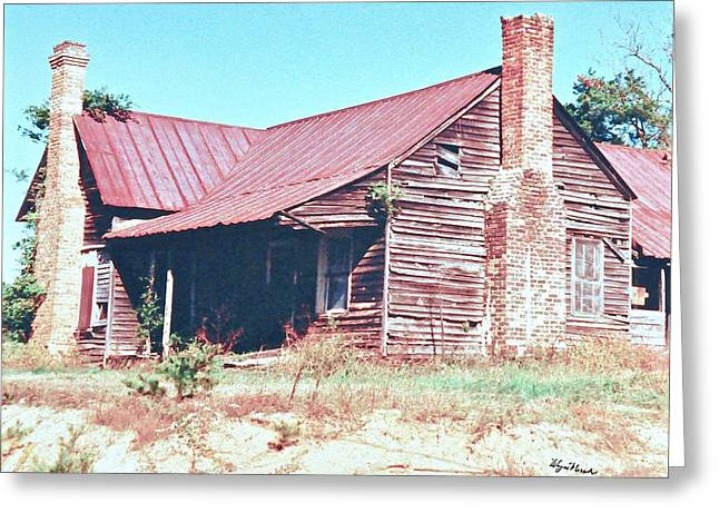 Tin Roof Greeting Cards - Abandoned Farm House Greeting Card by Wayne Marsh