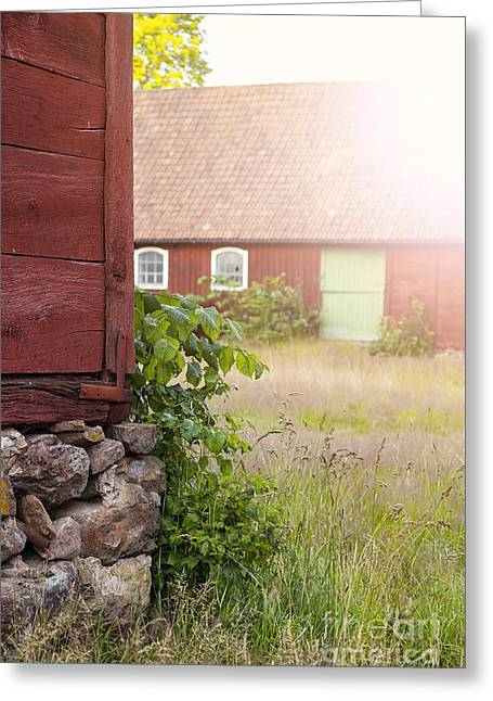 Outbuildings Greeting Cards - Abandoned farm Greeting Card by Sophie McAulay