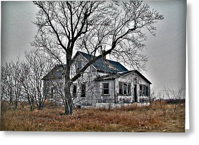 Abandoned Farmhouse Greeting Card by Laurie With